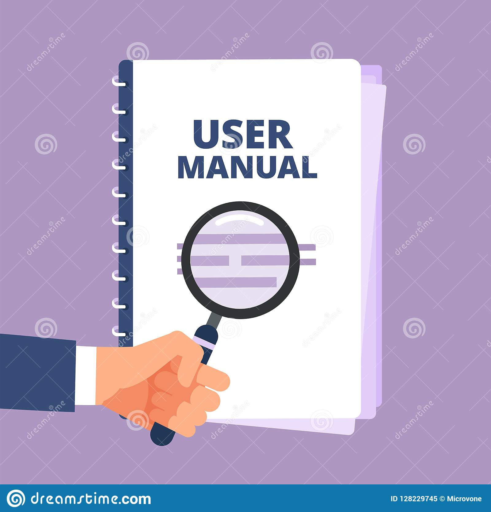 User Manual With Magnifying Glass  User Guide Document And