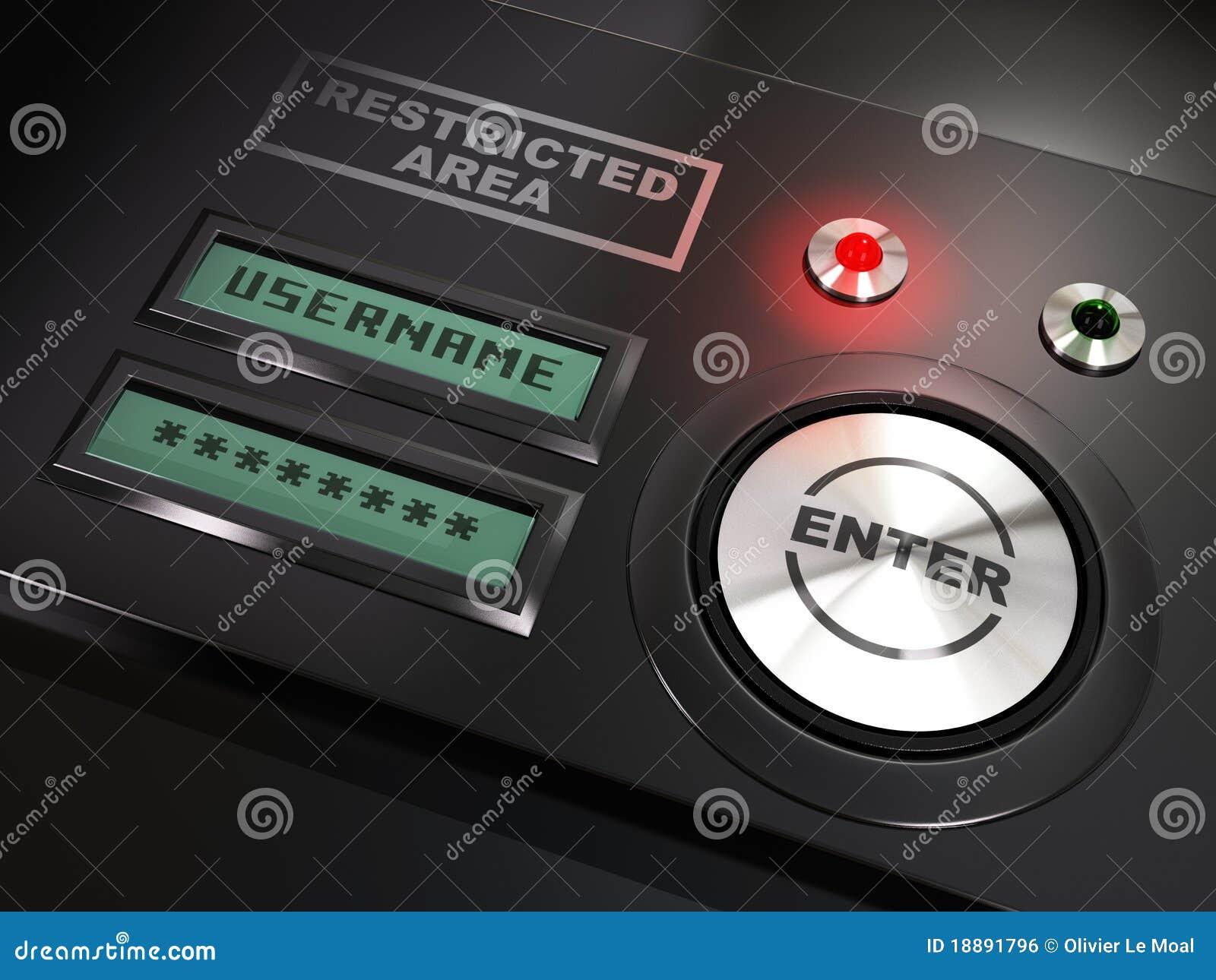 Username, Password And Login Stock Illustration - Illustration of