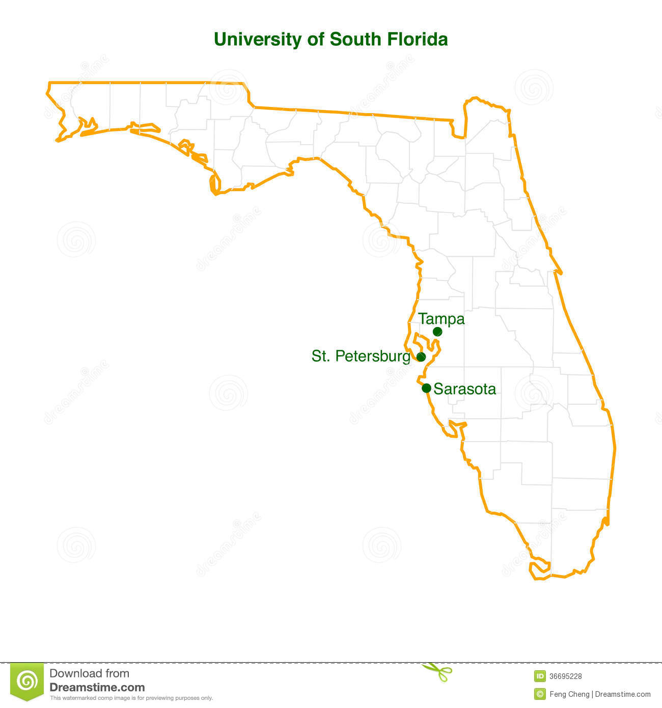 university south florida map