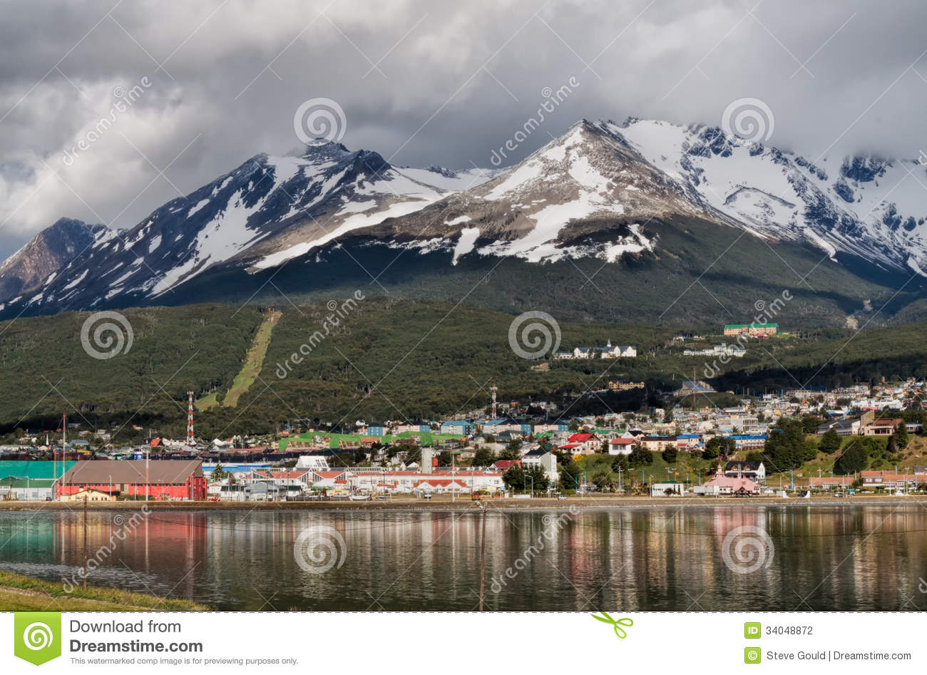 Download Ushuaia, Tierra Del Fuego, Argentina Stock Photo - Image of port, mountains: 34048872