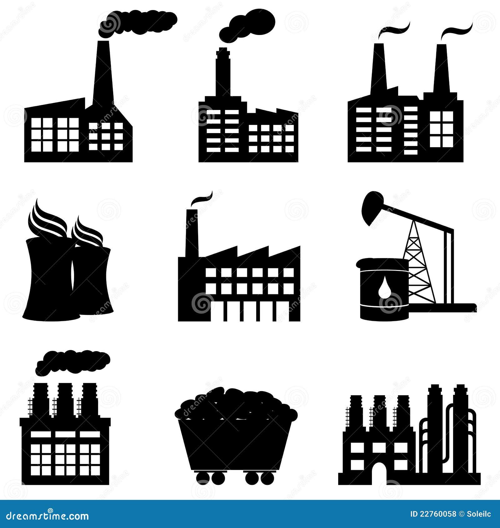 Usine, centrale nucléaire et graphismes d énergie