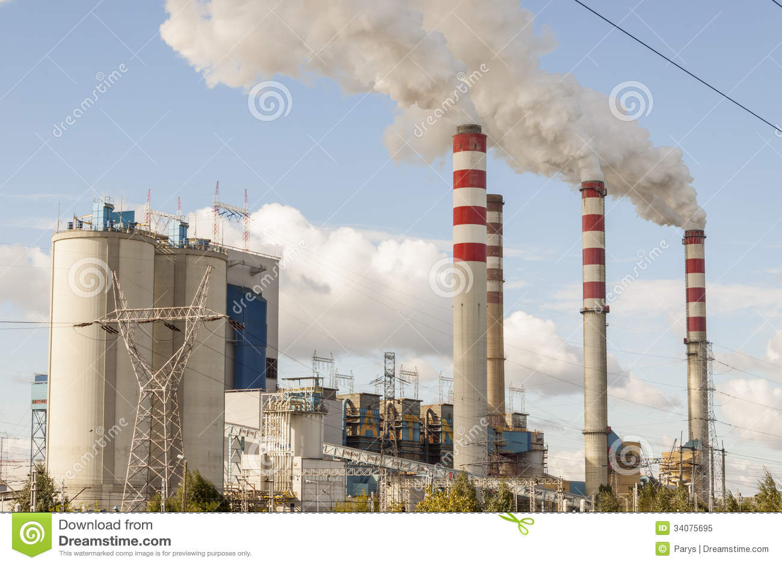 Usine de centrale à charbon dans Patnow - Konin, Pologne, l Europe.