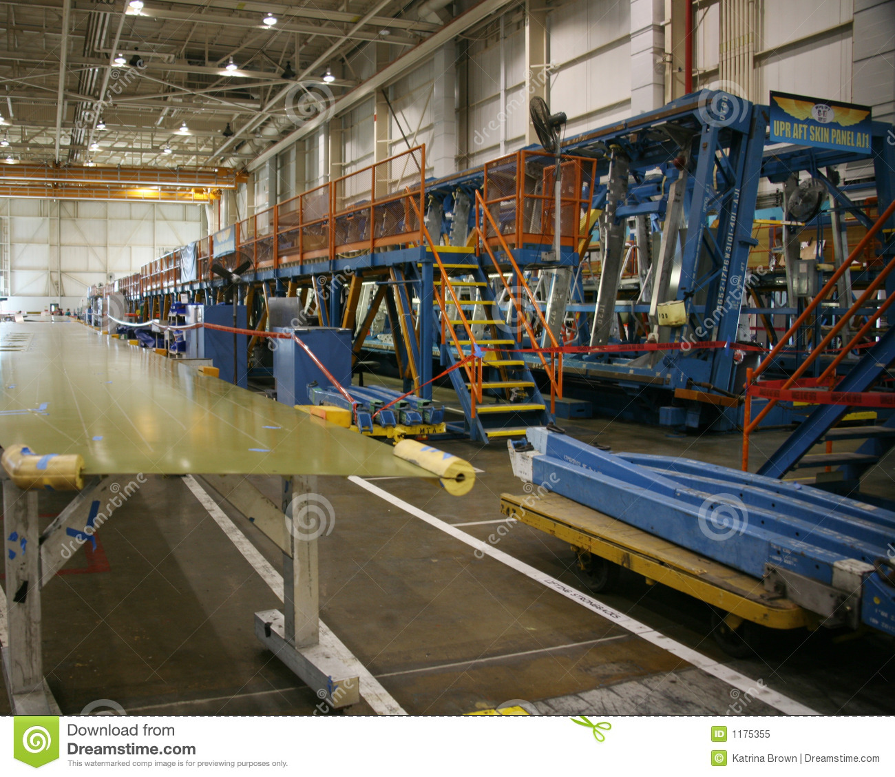 Usine de production d avion