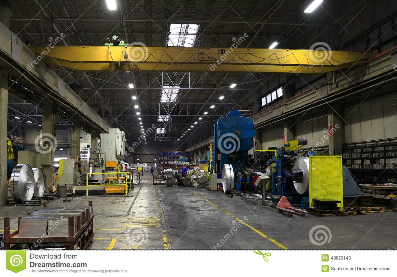 Usine en aluminium de feuille photo stock image 48876148 for Interieur usine