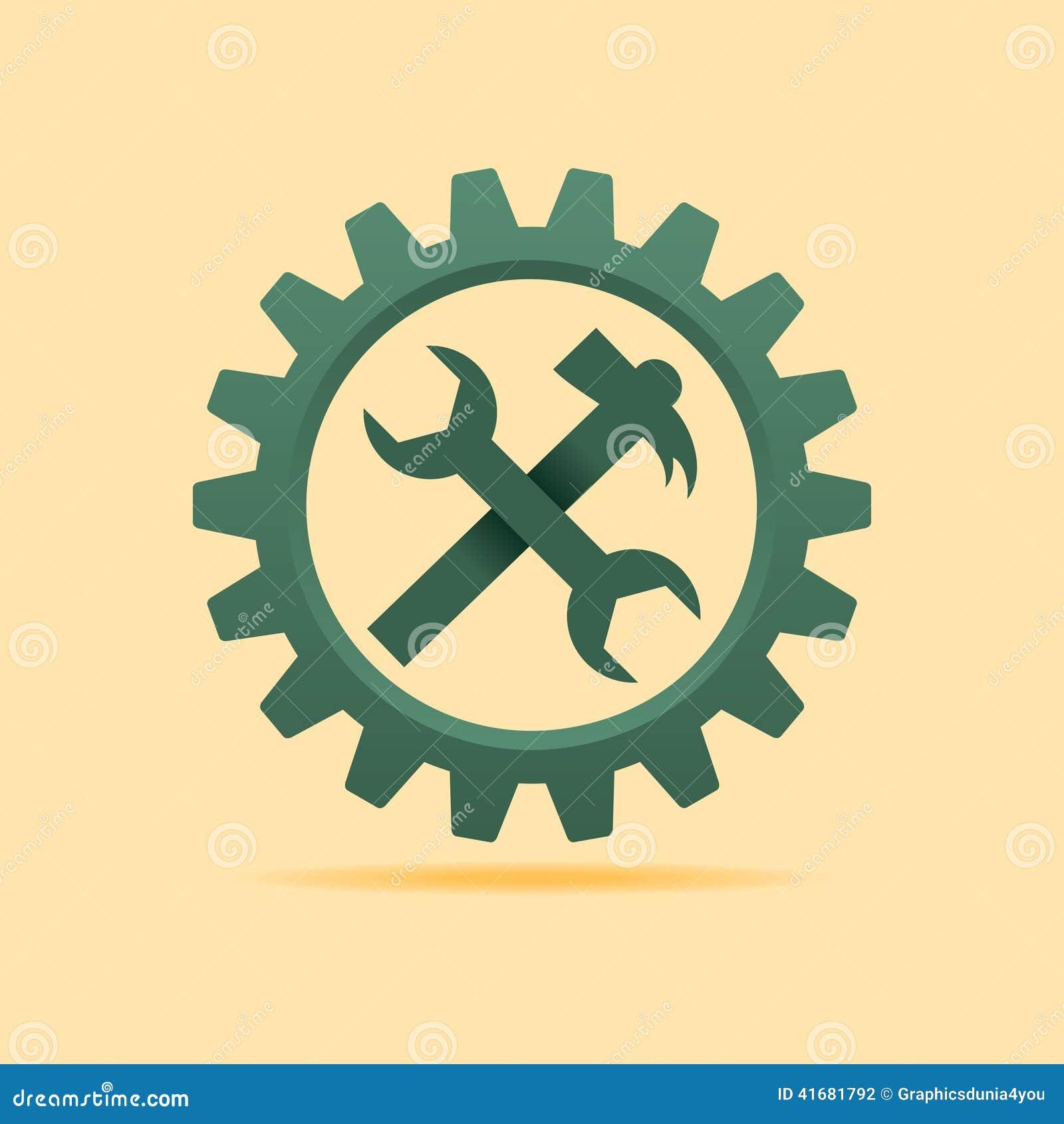 Usine l icône à l intérieur de la roue de dent