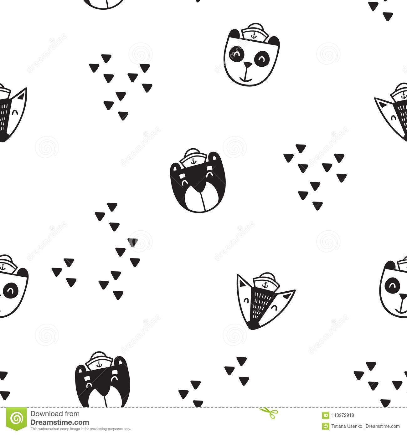 Pattern For Kids Girls And Boys Vector Illustration It Can Be
