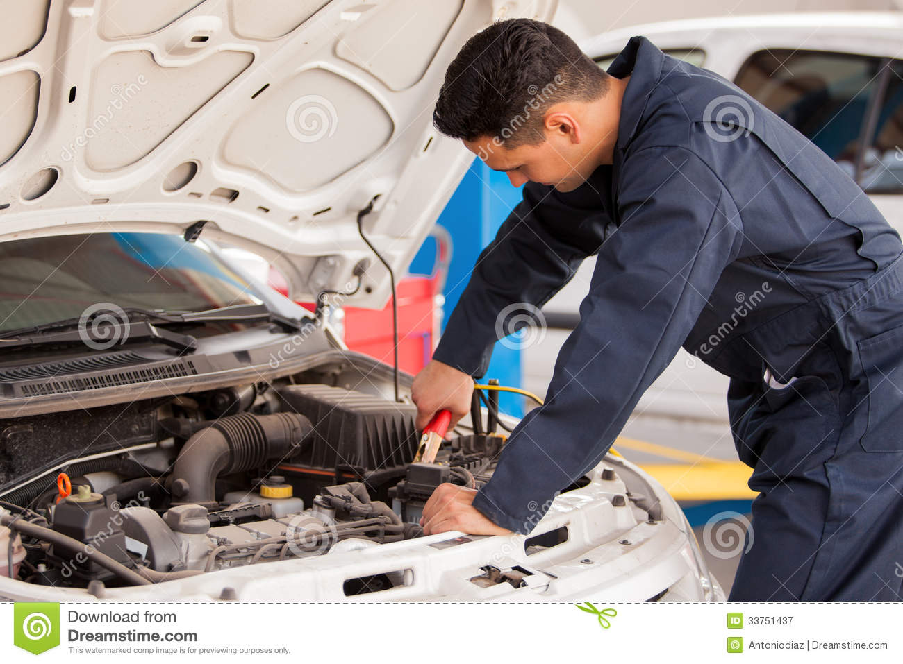 Taking Off Car Battery Cables