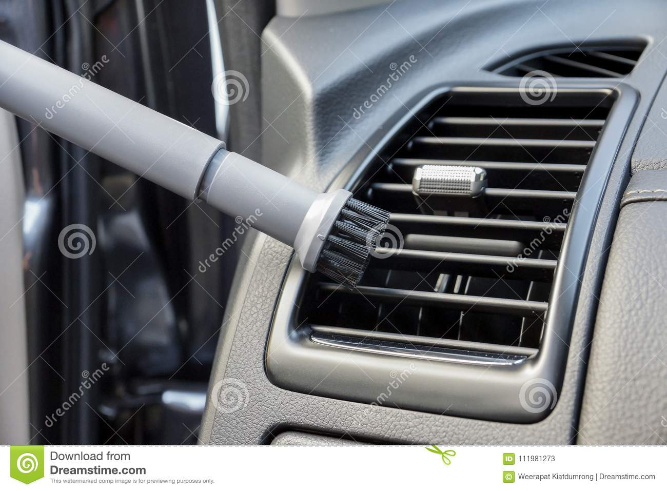 Cleaning Air Conditioner In A Car Stock Image Image Of Conditioner