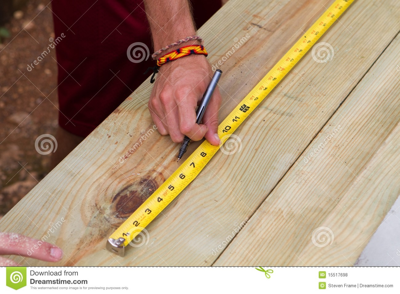 using tape measure stock photo image of board inches 15517698. Black Bedroom Furniture Sets. Home Design Ideas
