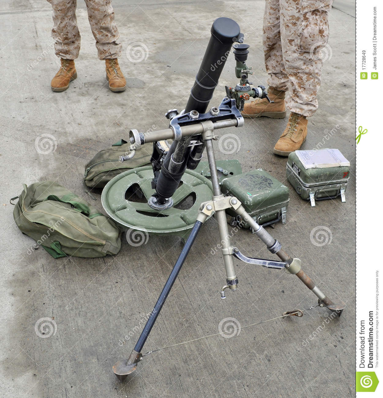 The U.S. Marine Corps Lightweight M224 Mortar.