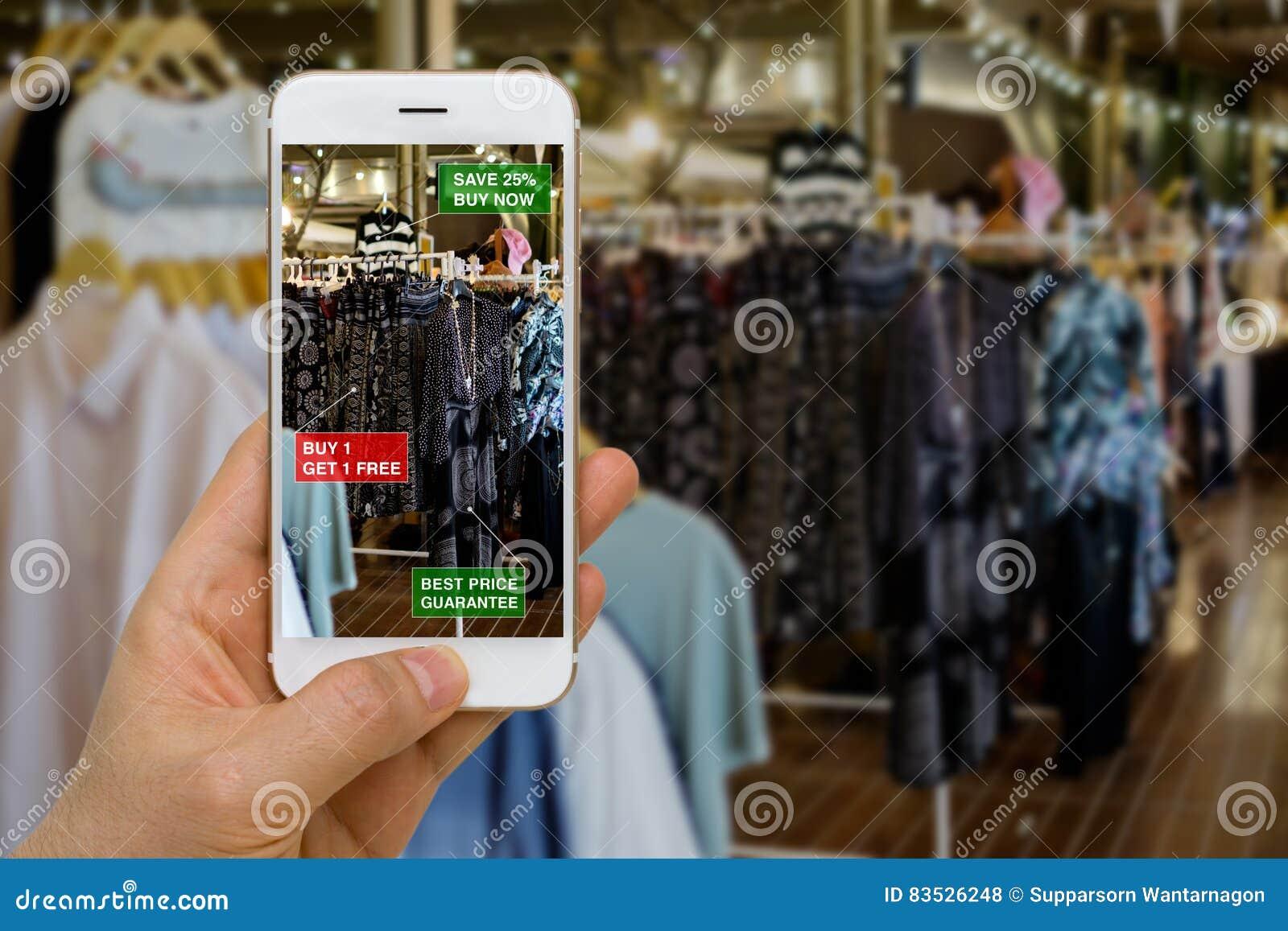 Uso de la realidad aumentada en el concepto del comercio al por menor para