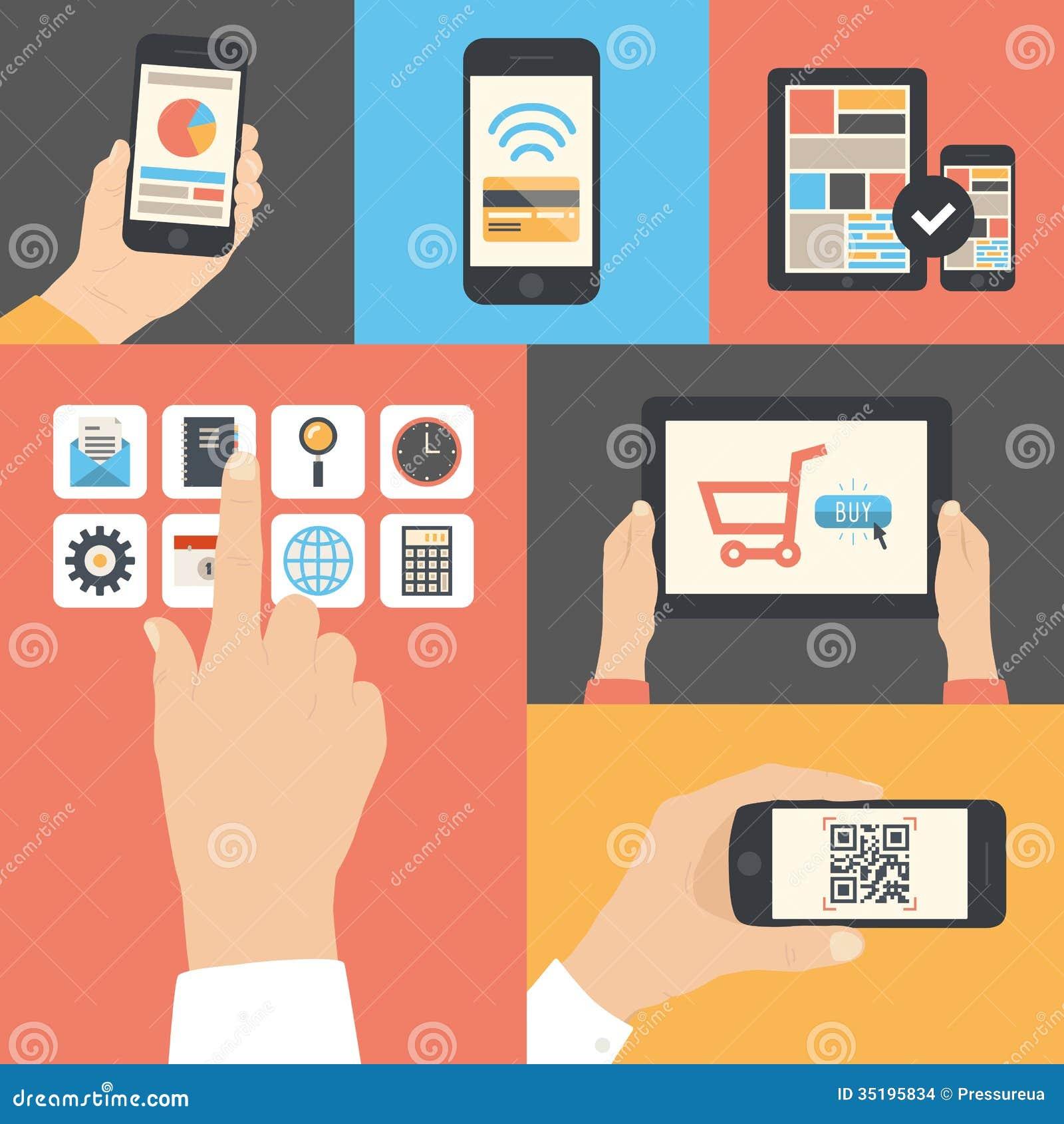 Uso di comunicazione commerciale della compressa e del cellulare