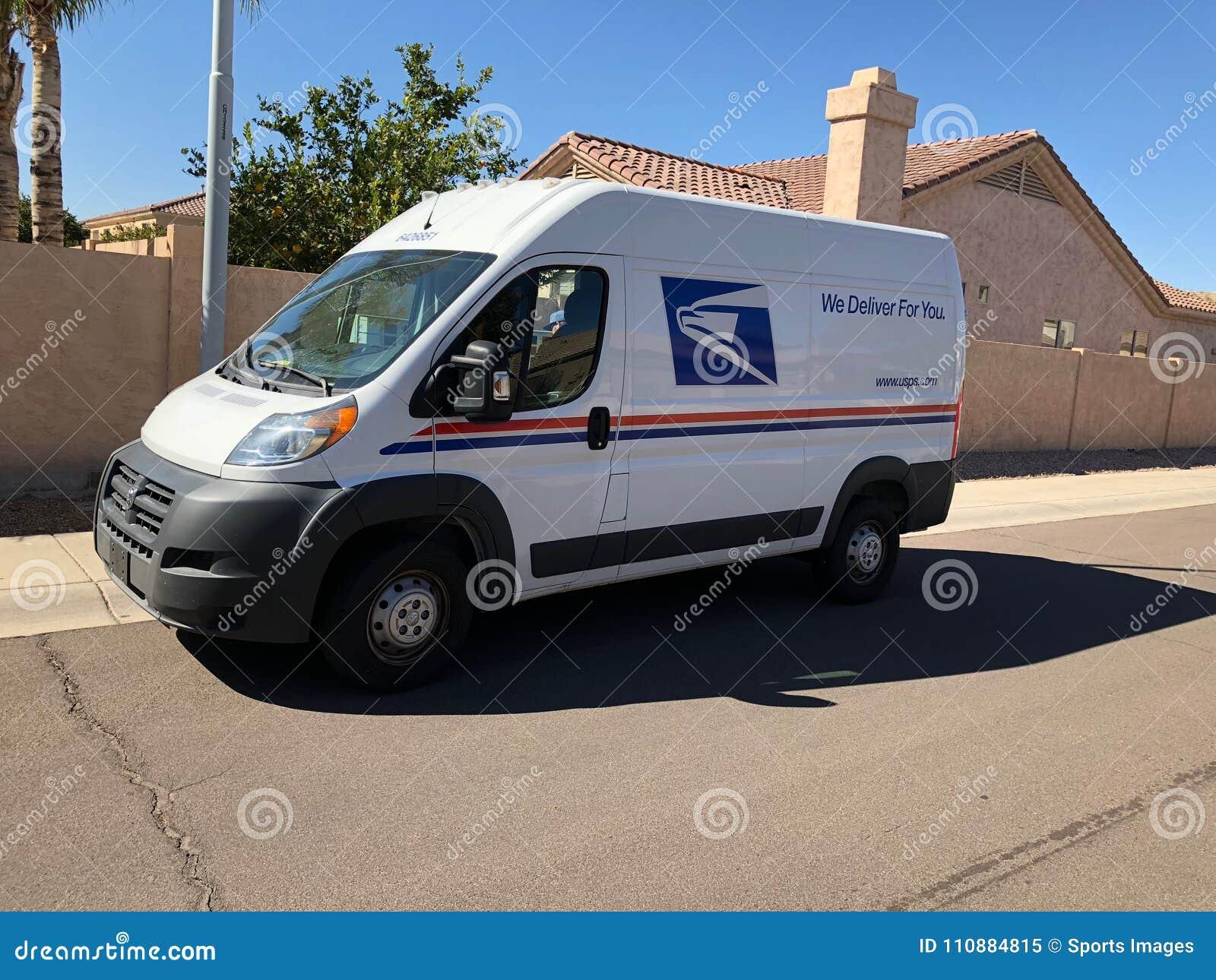 USPS Doręczeniowy Van W Arizona