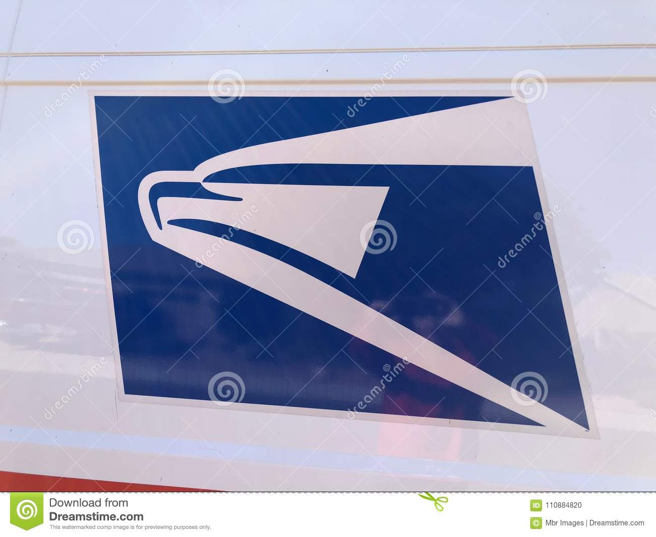 USPS Logo  editorial image  Image of providing, delivery