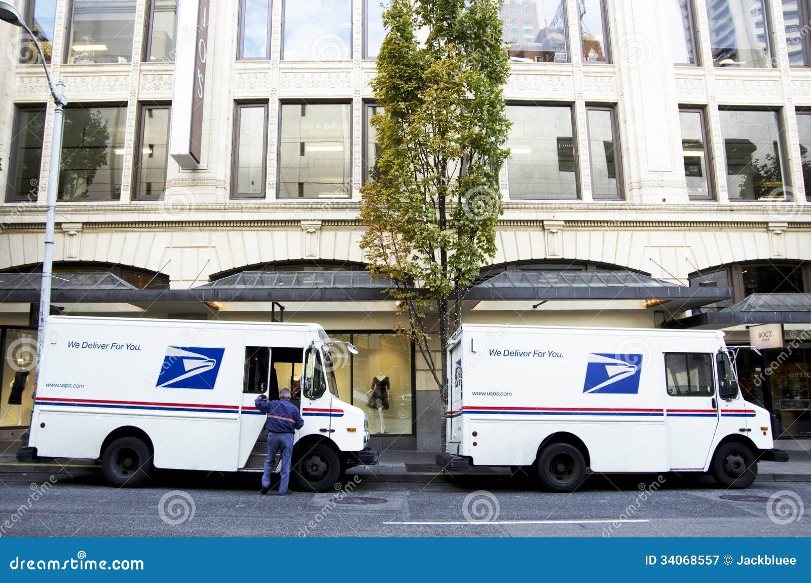 USPS-postvrachtwagens