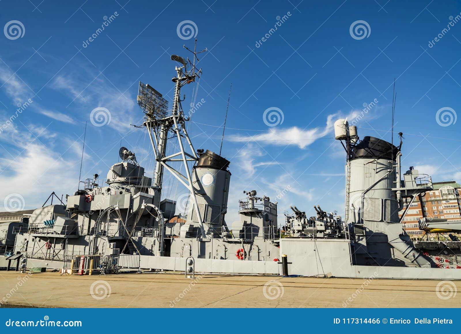 USS卡辛年轻DD-793 Charlestown海军工厂,波士顿
