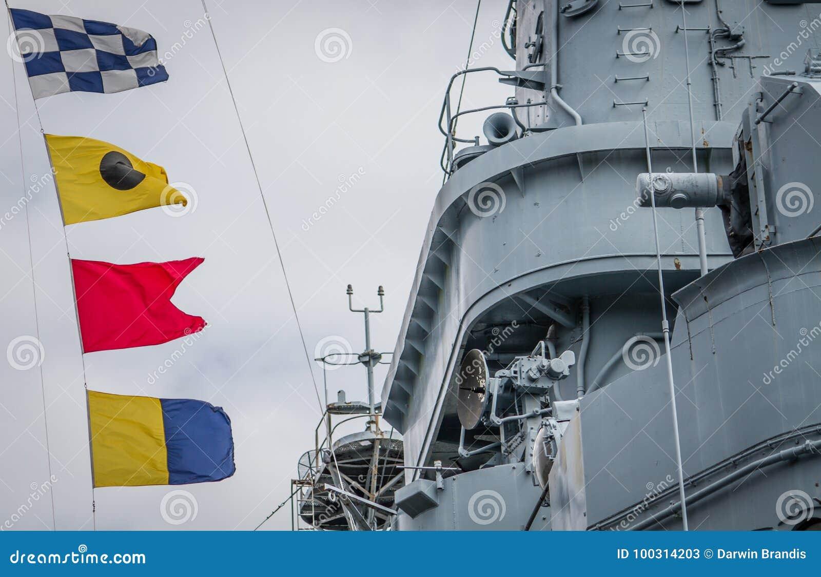 USS Carolina Nautical Flags del nord