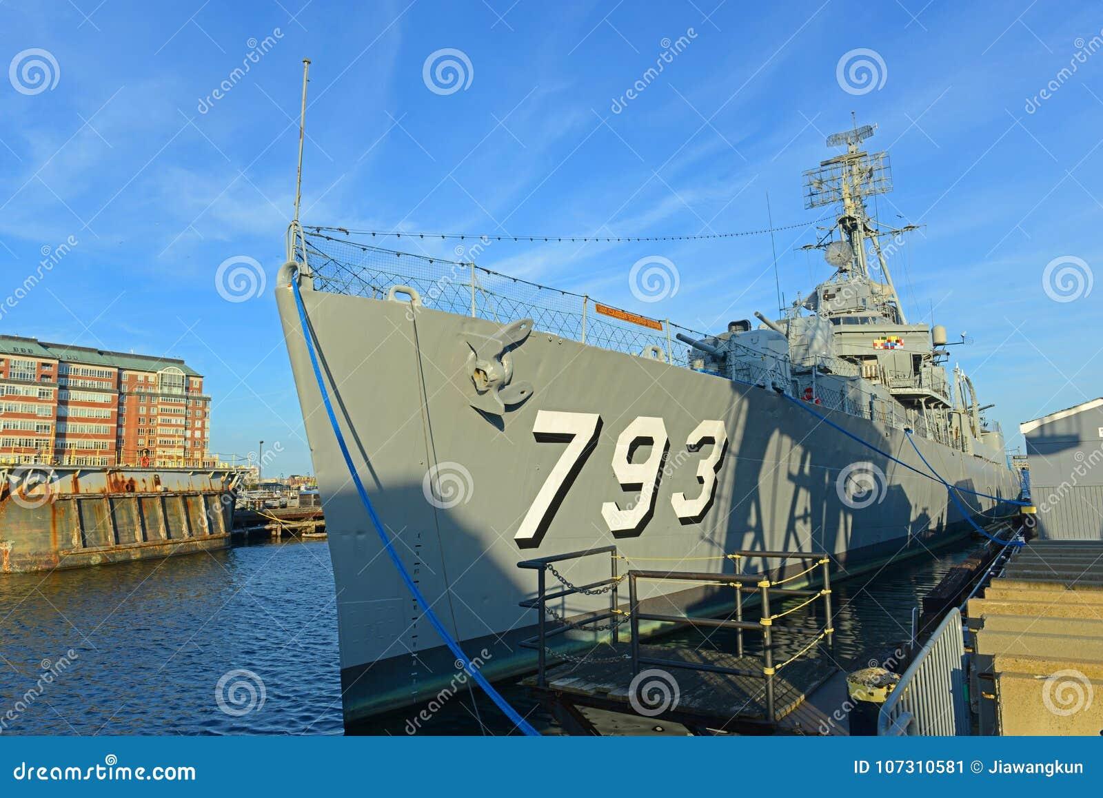 USS Cassin potomstwa DD-793 w Boston, Massachusetts, usa