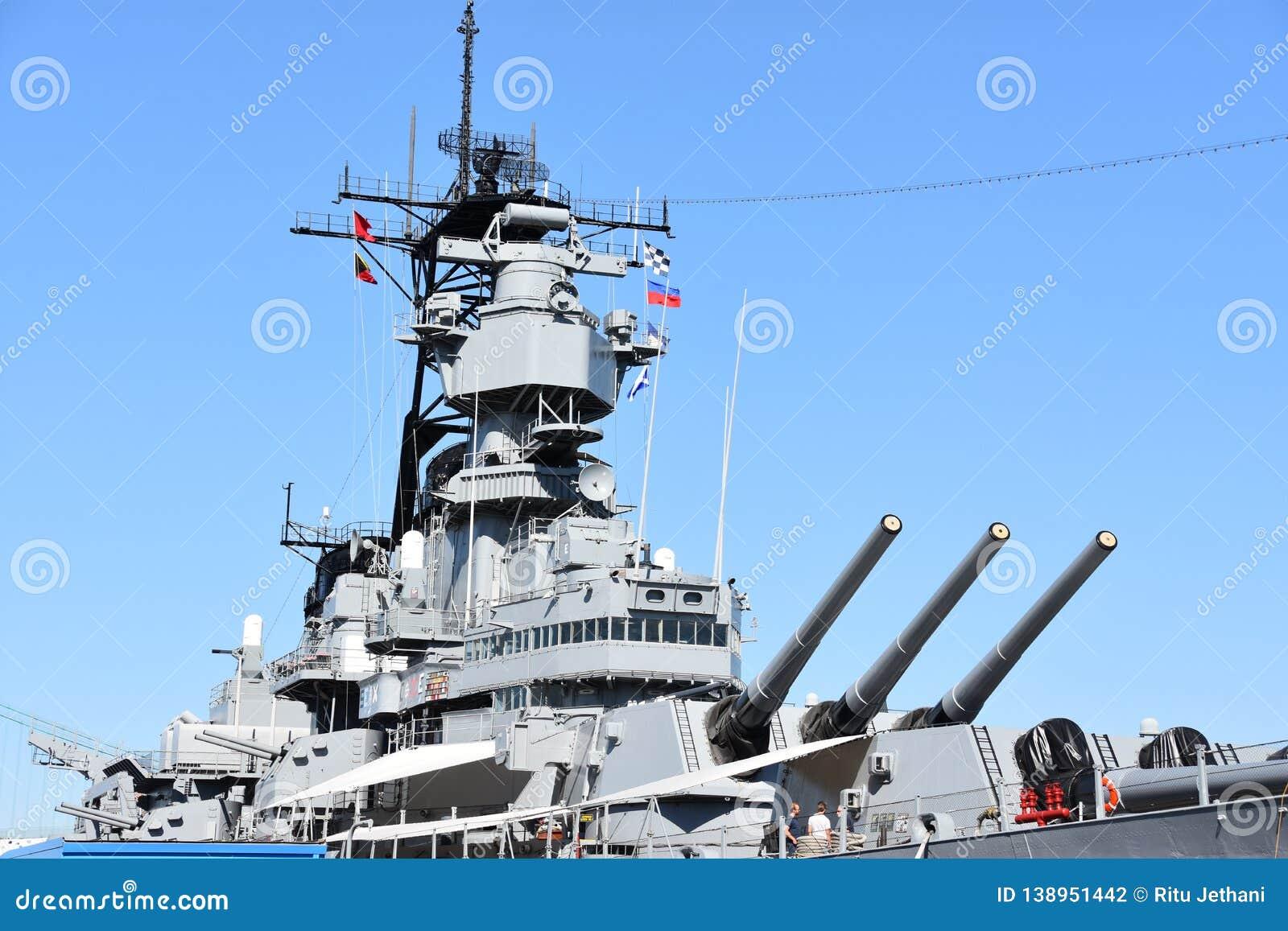 USS Iowa BB-61 In San Pedro, California Editorial