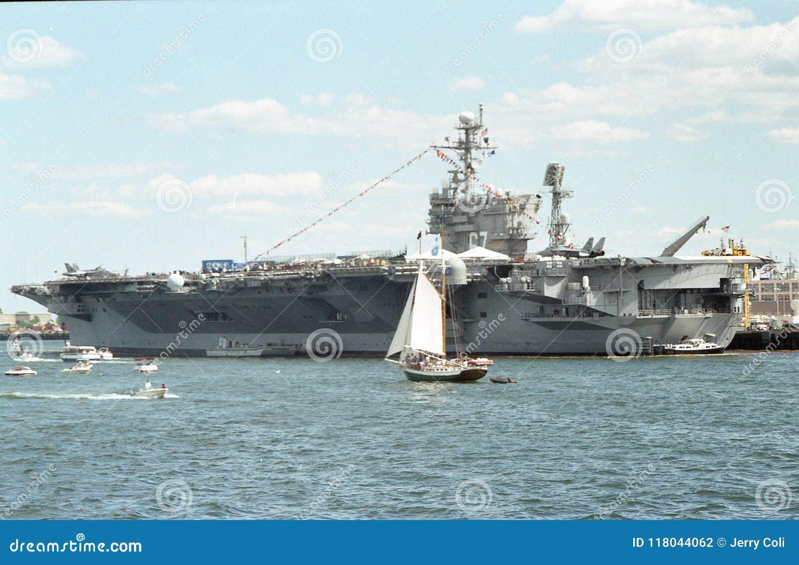 uss john f kennedy cv 67 aircraft carrier editorial photography
