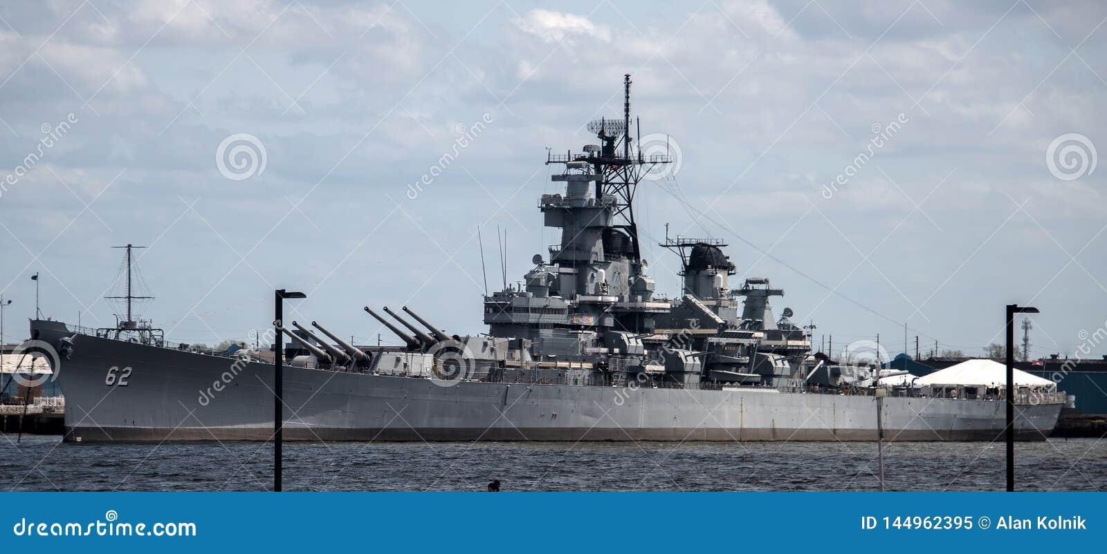 USS New Jersey BB-62 - Camden, NJ Editorial Image - Image of
