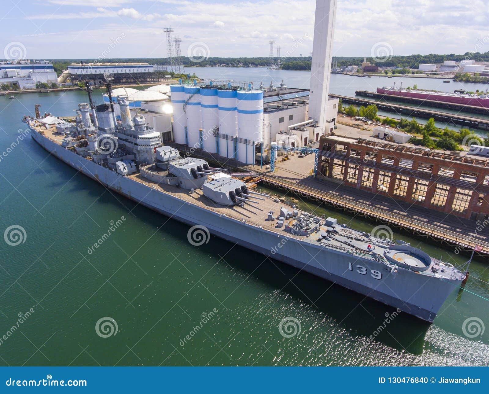USS Salem CA-139 ciężki krążownik, Quincy, MA, usa