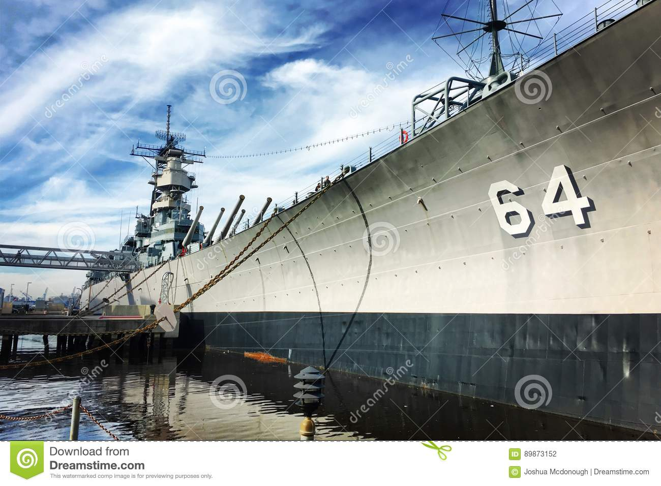 USS Wisconsin BB  Museum Ship Stock Photo Image - Ship museums in us