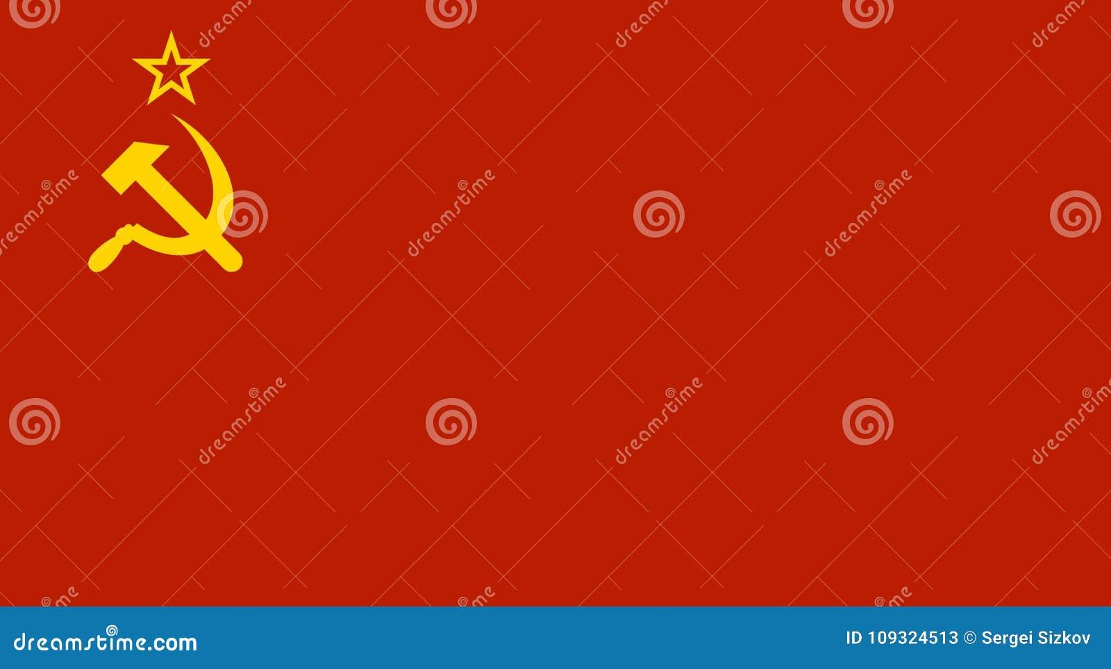 Ussr röd Sovjetunionen flagga vektor