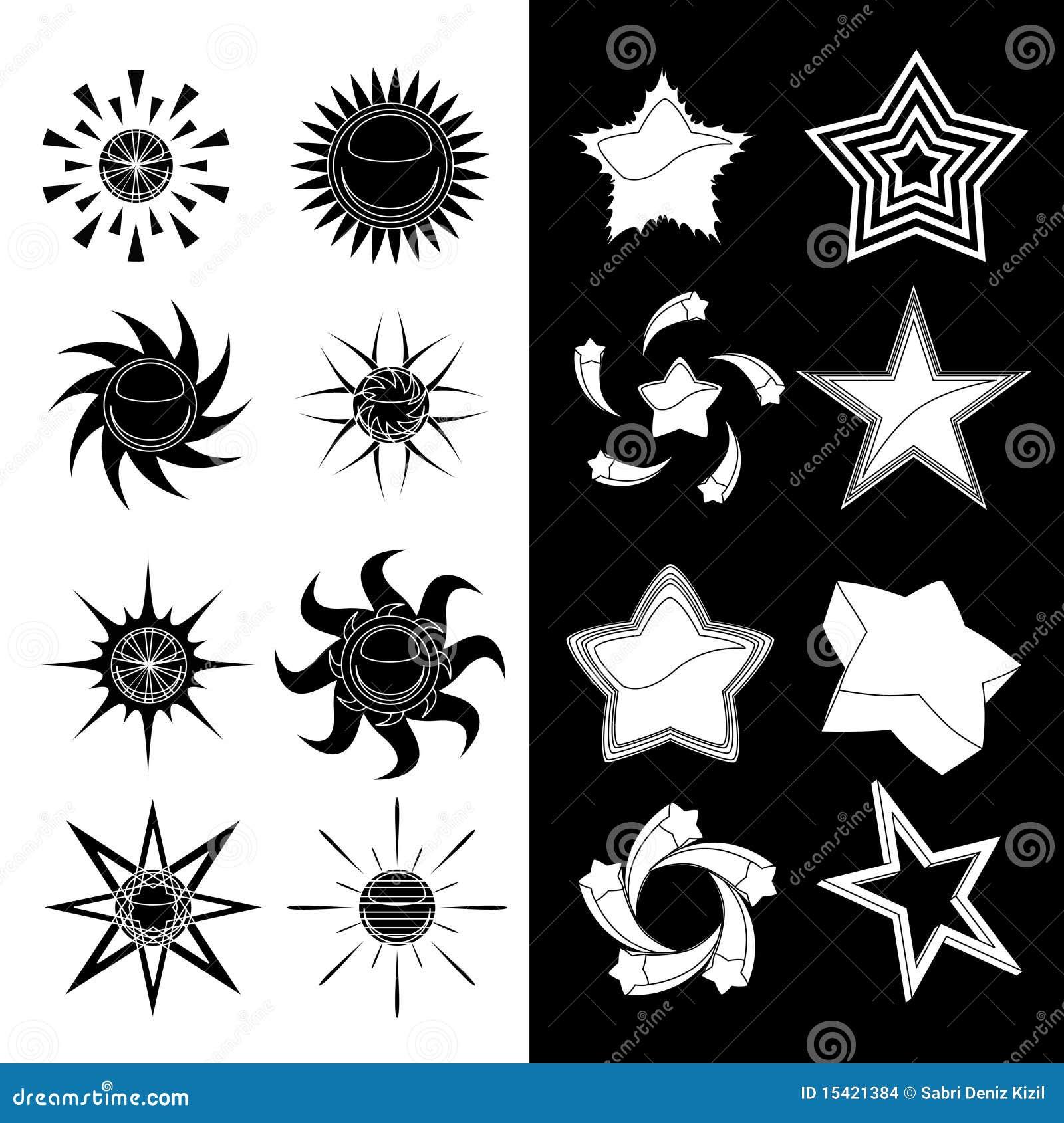 Ustalony gwiazdowy słońce