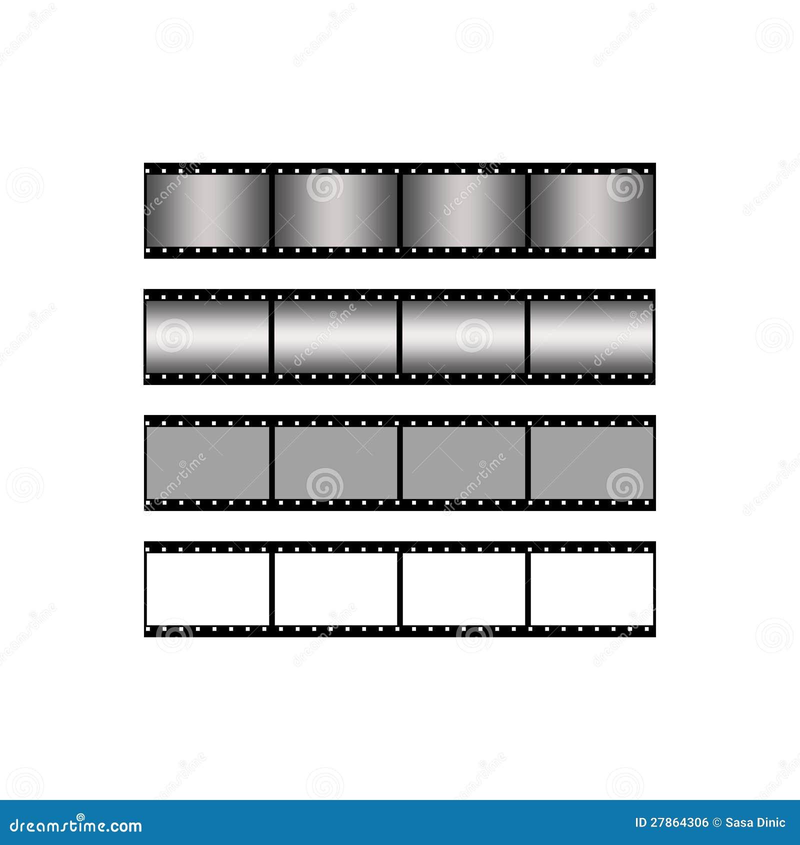 Ustalony pustego miejsca filmu paska tło