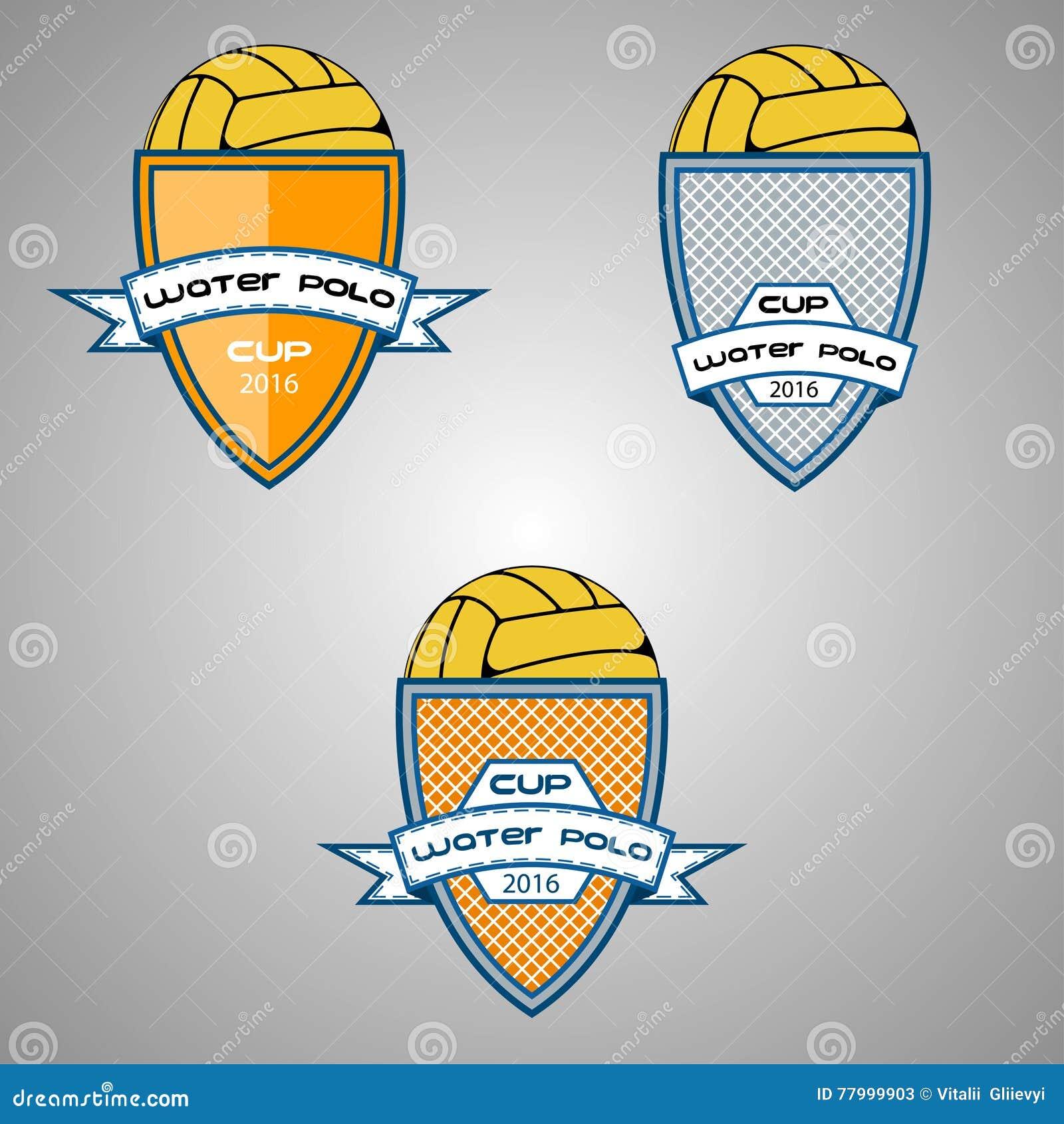 Ustalony wodnego polo logo dla drużyny i filiżanki