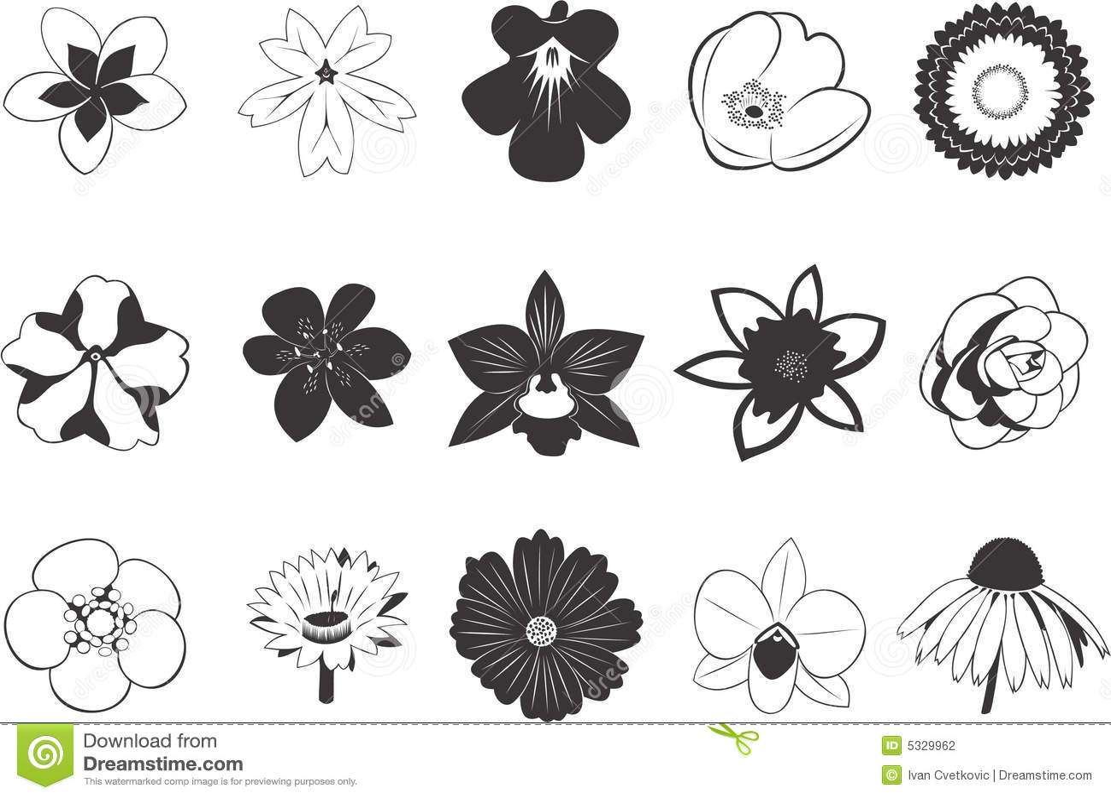 Ustawić symbole kwiat