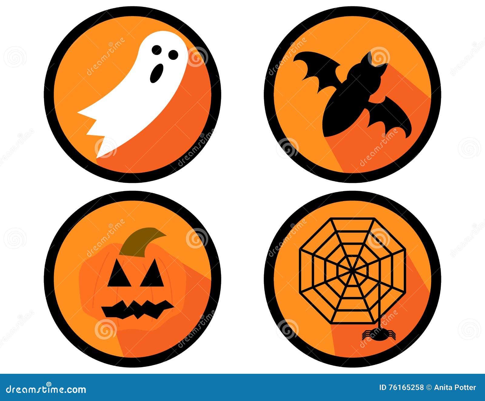 Ustawiać Halloween ikony