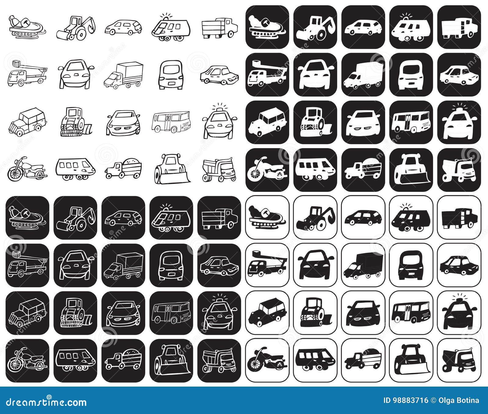 Ustawiać samochód ikony
