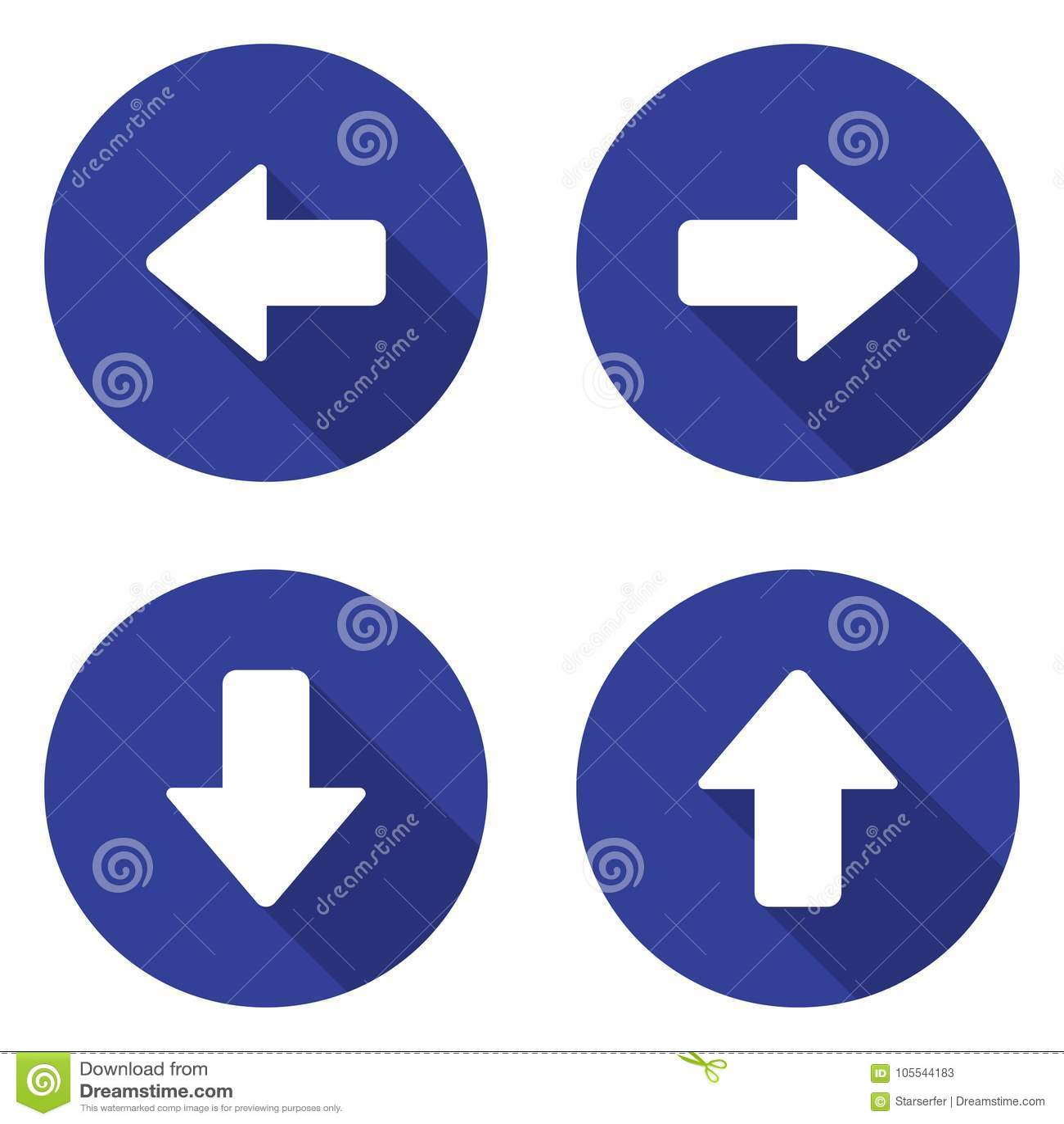 Ustawiać strzałkowate ikony