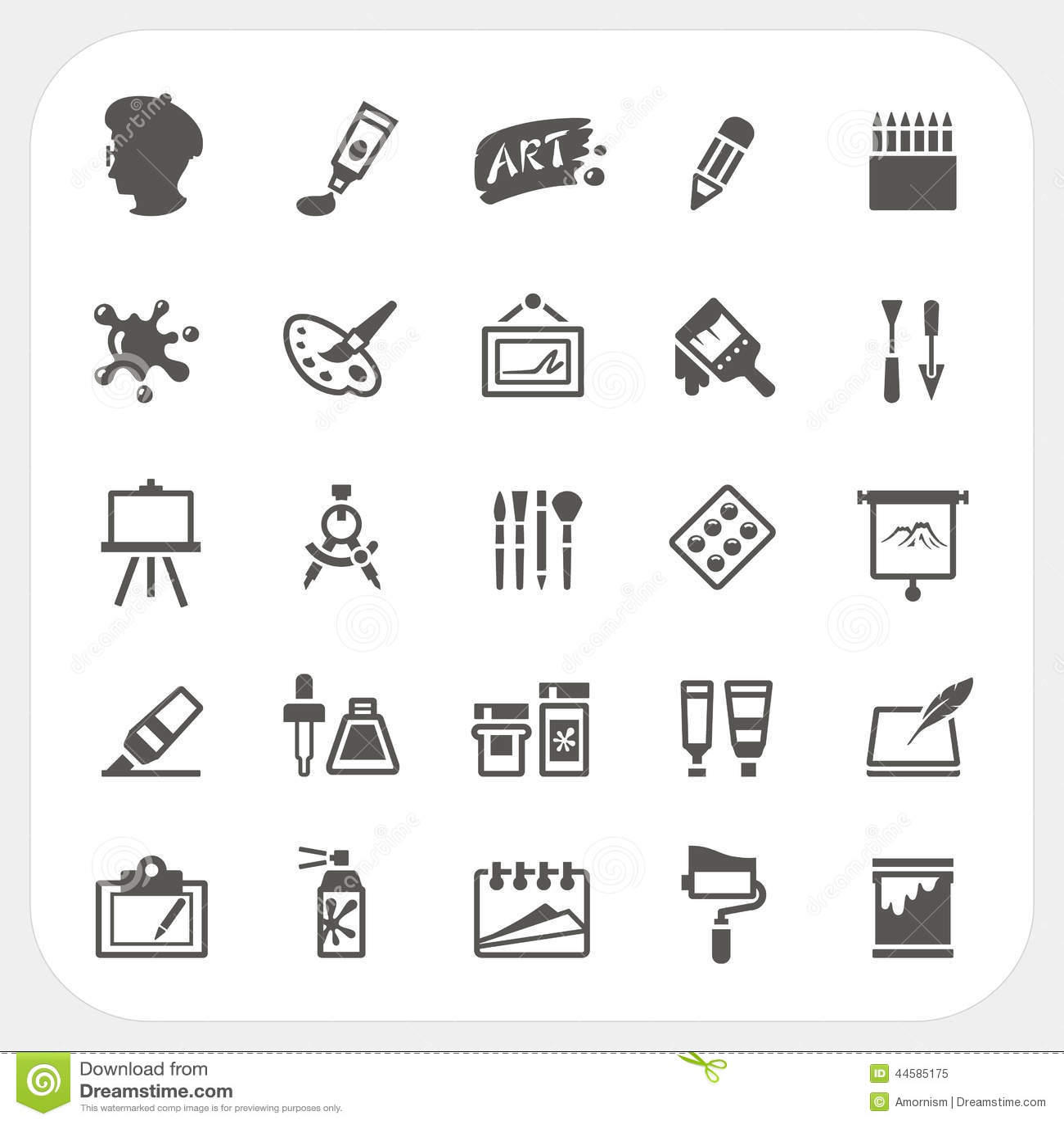 Ustawiać sztuk ikony