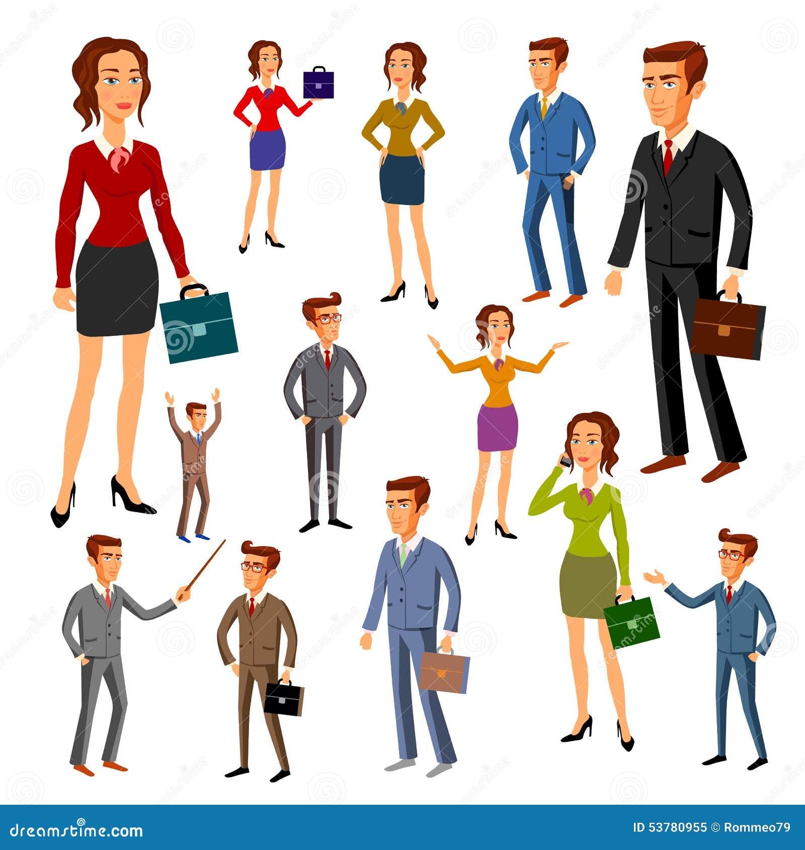 Ustawia charakteru projekt Biuro drużyna wektor mężczyzna kobiety