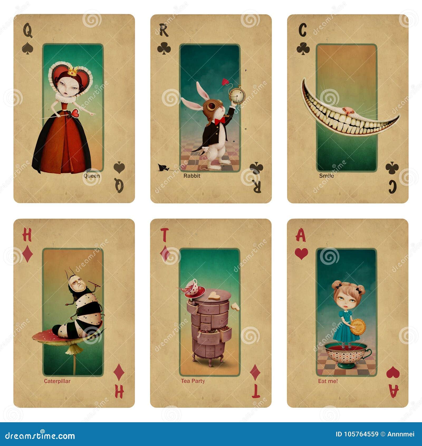 Ustawia fantazi bajki karta do gry