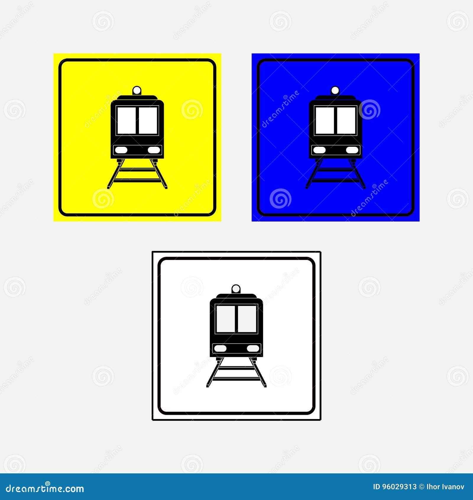 Ustawia ikona pociąg, kolej, pociąg