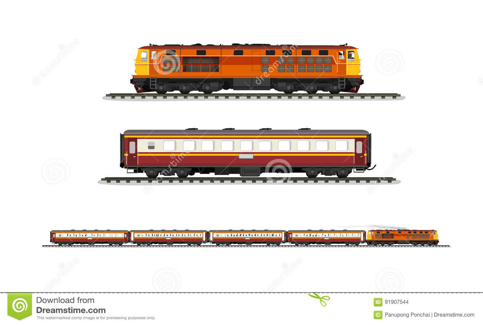 Ustawia korowodu pociąg