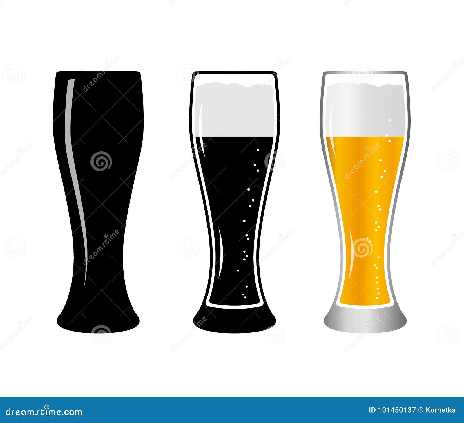 Ustawia szklanego piwo