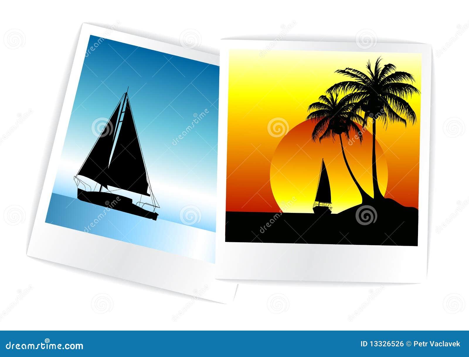 Ustawiać wakacje kolorowe fotografie