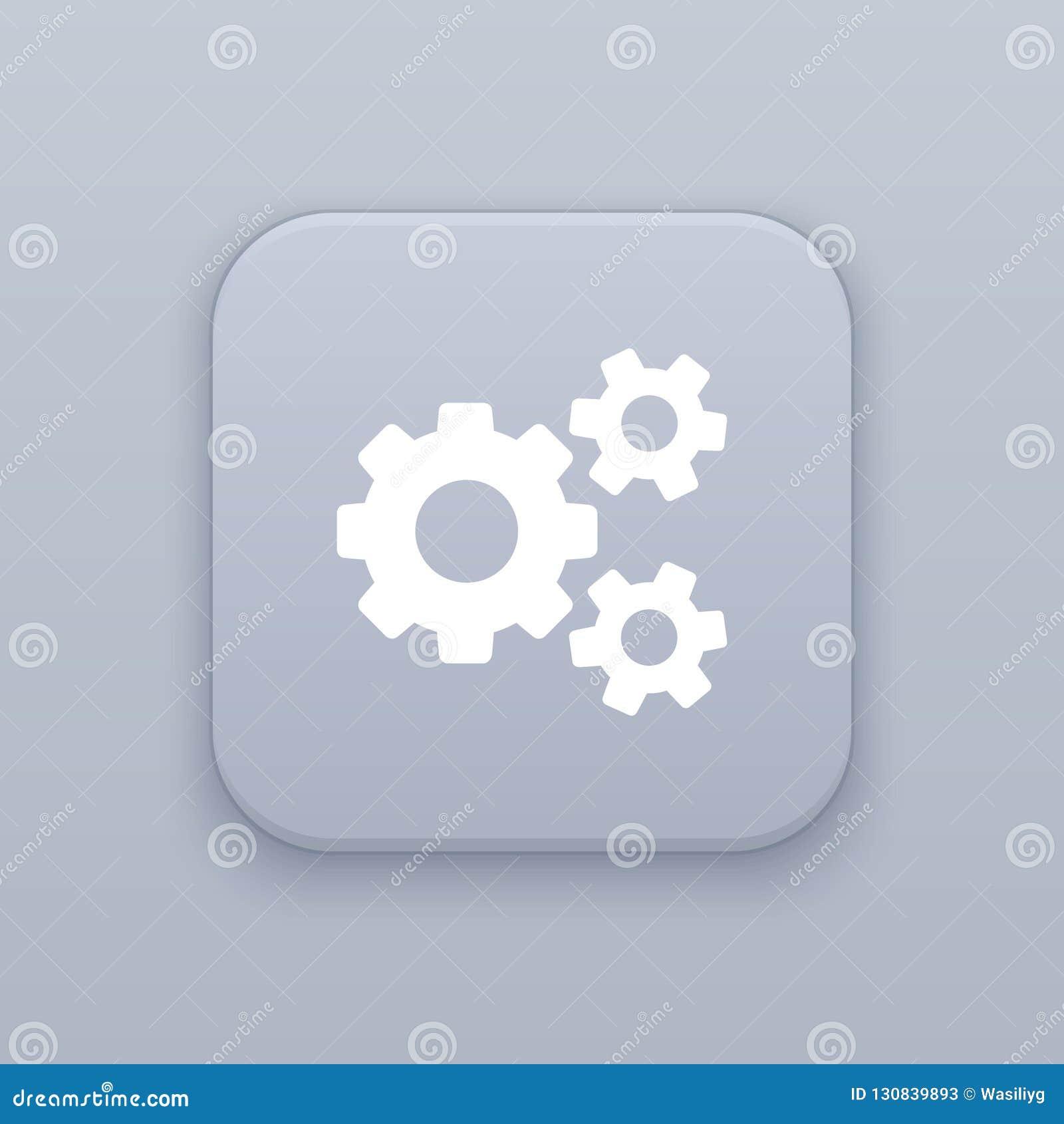 Ustawiający, naprawa, szary wektorowy guzik z białą ikoną