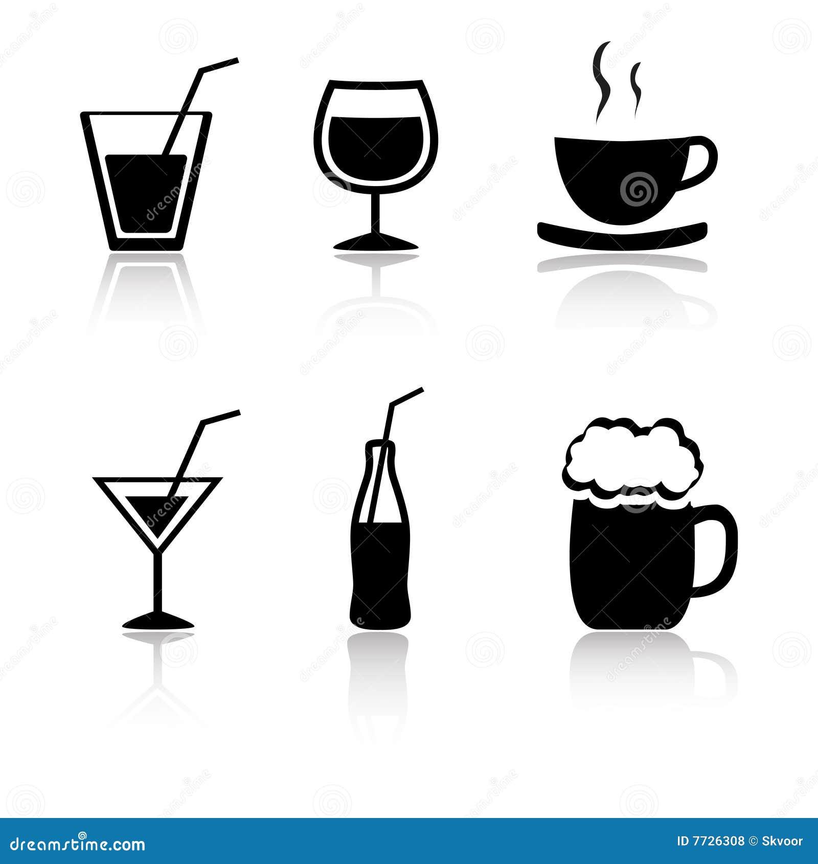 Ustawiających napojów 6 ikon