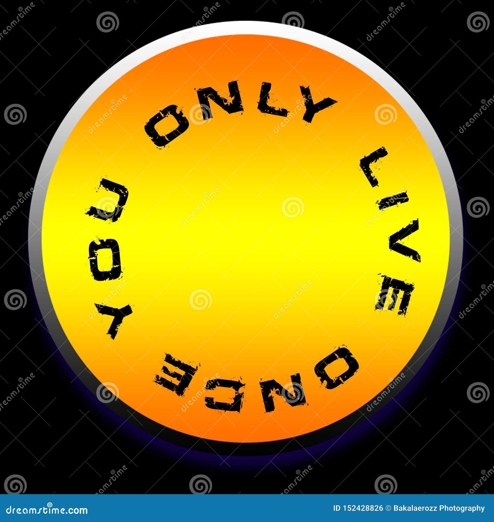 Usted vive solamente una vez el papel pintado del fondo del diseño del logotipo
