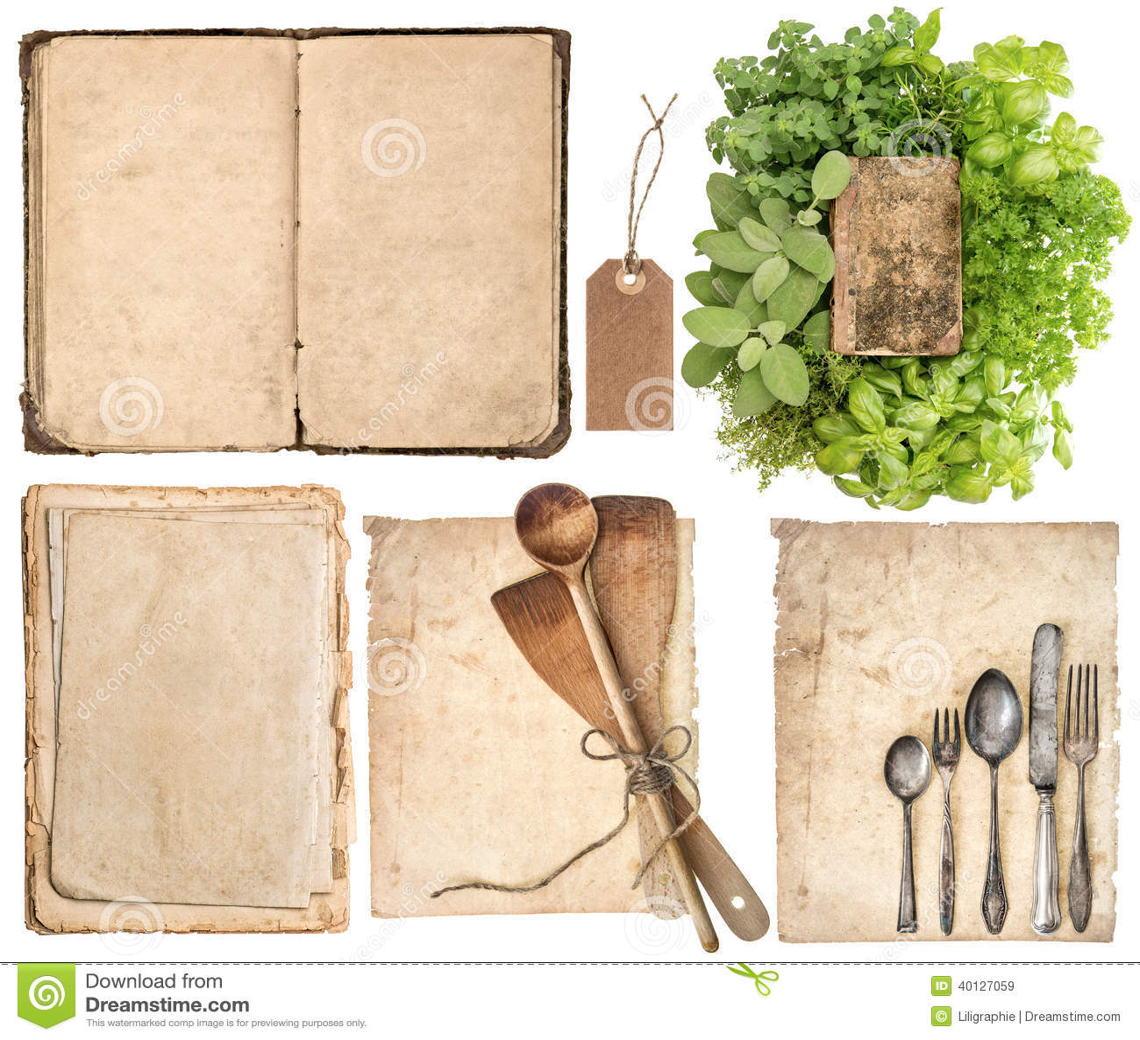 Ustensiles de cuisine vieux livre de cuisine pages et - Vieux ustensiles de cuisine ...