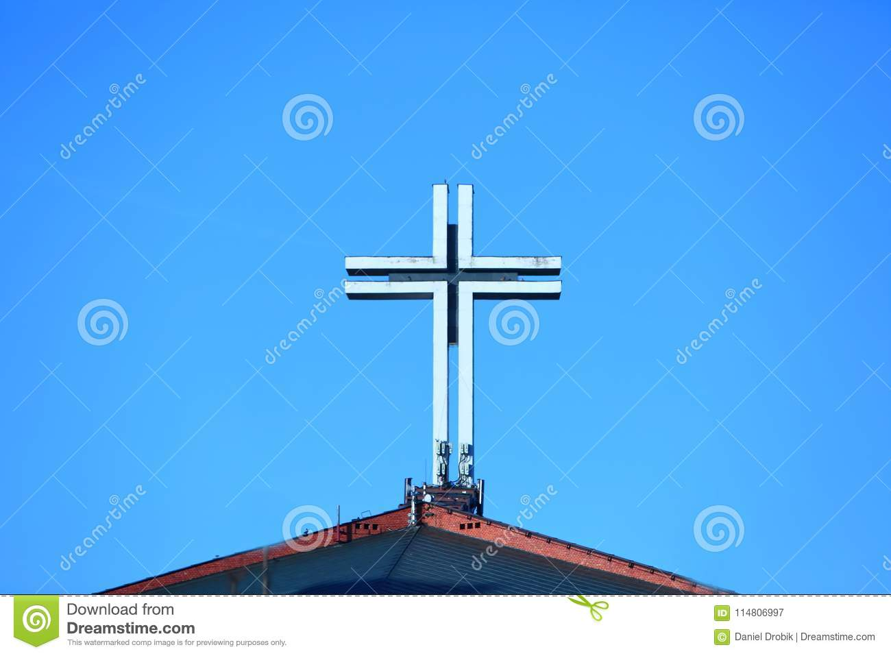 Usually On The Top Of The Church There Is A Big Cross As A Symbol Of