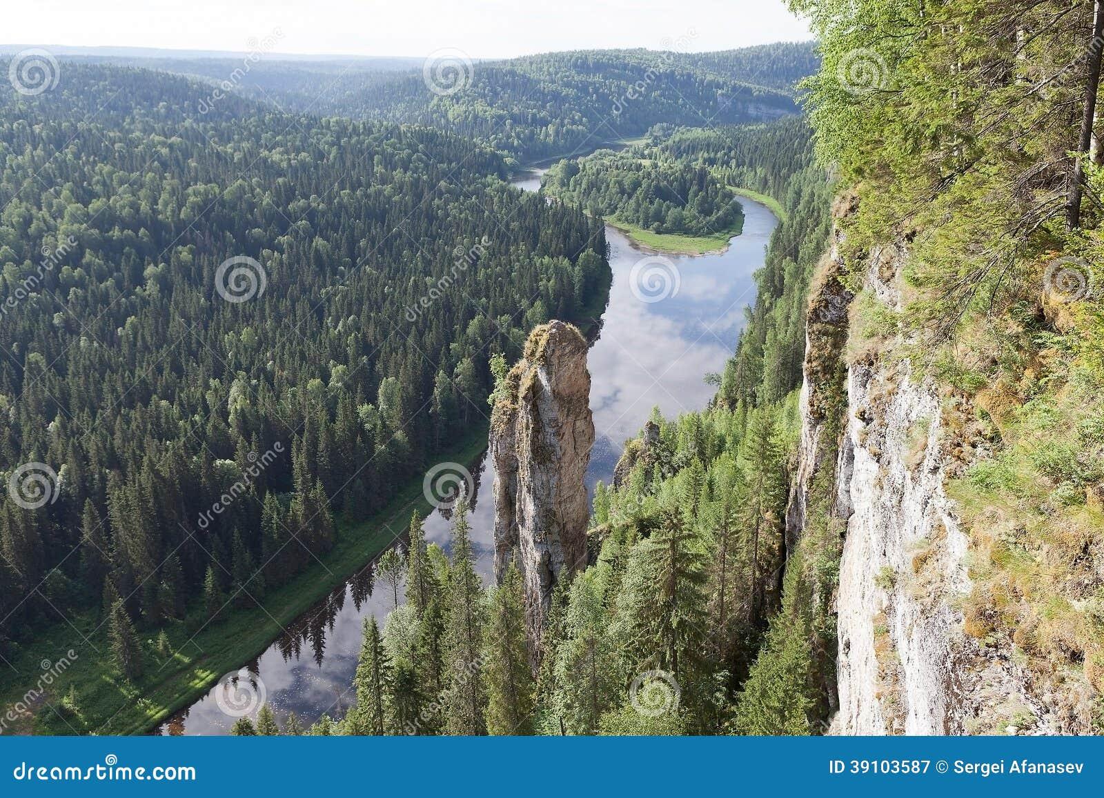 Usvinskie Polen in het Permanentgebied