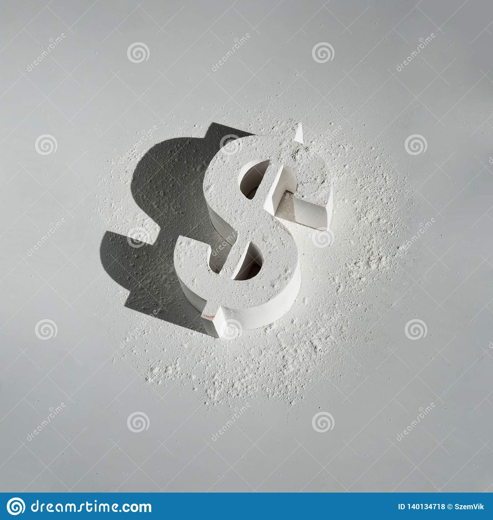 Uszkadzający dolar amerykański Na bielu