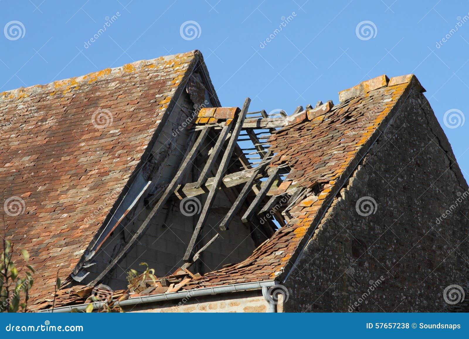 Uszkadzający Dachówkowy dach